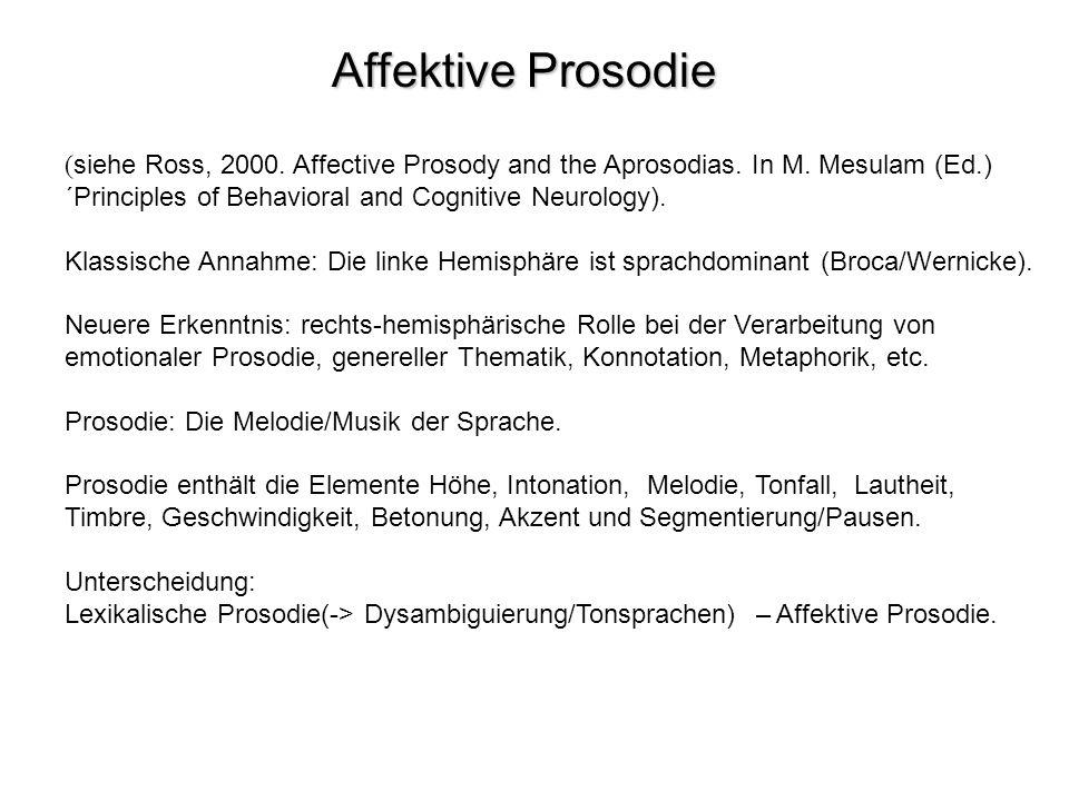 Erste Studien zur Prosodie und Aprosodie: Monrad-Krohn (2.