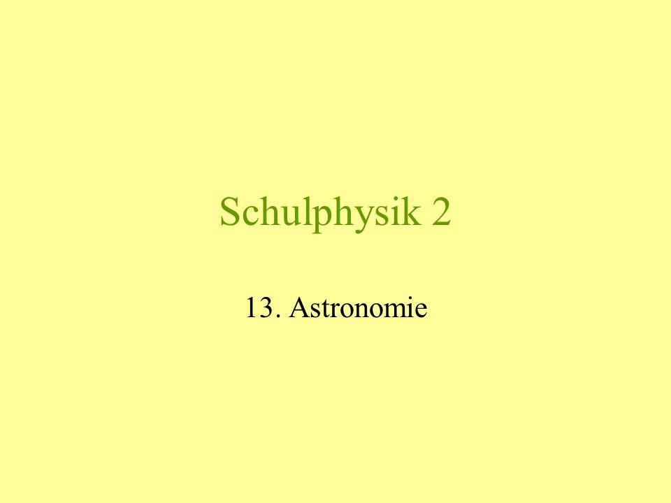 Schulphysik 2 13. Astronomie