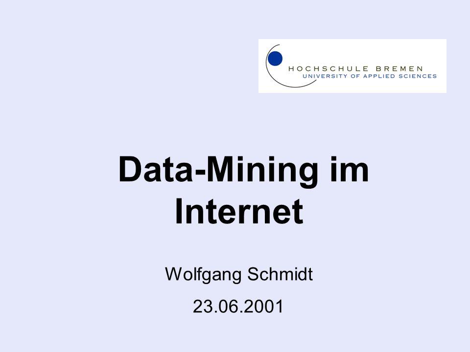 Wolfgang Schmidt 23.06.2001 Data-Mining im Internet