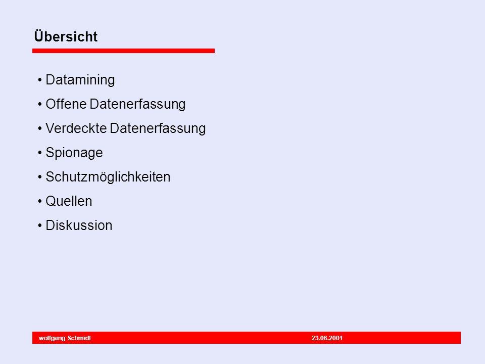 wolfgang Schmidt 23.06.2001 Fragen? Meinungen? Ergänzungen? Ende