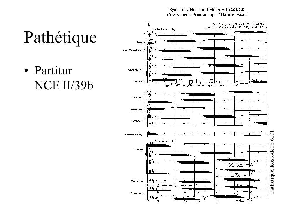Pathétique, Rostock 16.6..01 Pathétique Partitur NCE II/39b