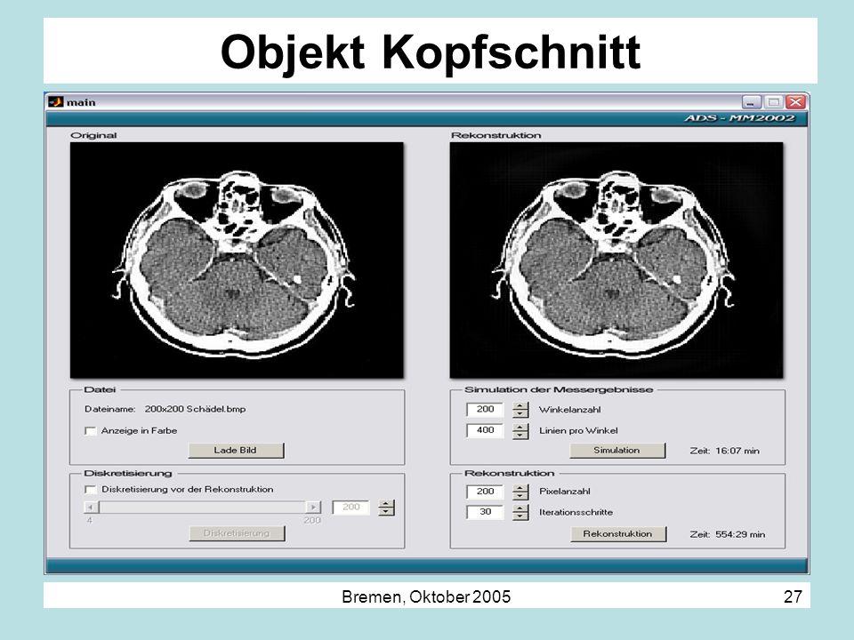 Bremen, Oktober 2005 27 Objekt Kopfschnitt