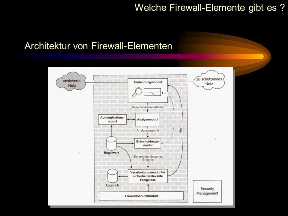 Klassifizierung von Firewall-Elementen