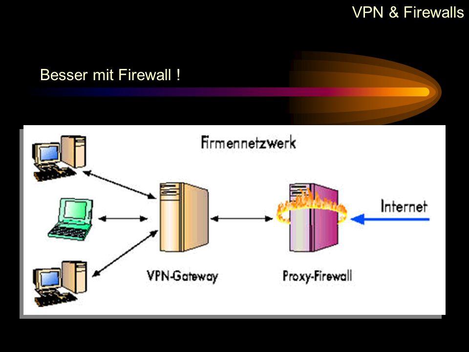VPN & Firewalls Möglichkeiten :