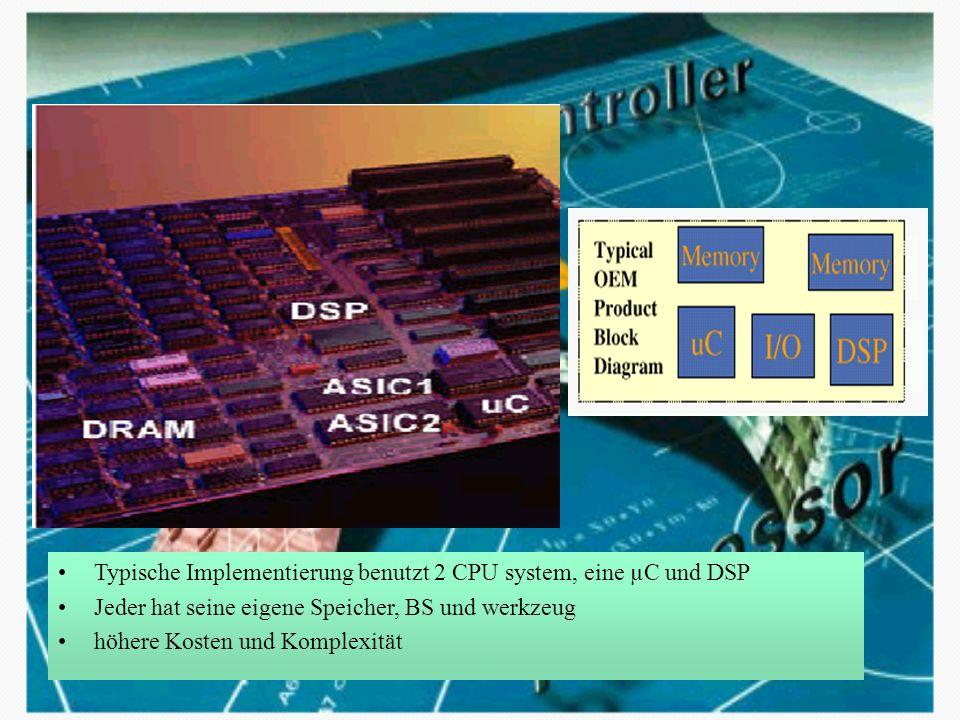 Tricore-1 core CPU RISC load/store Maschine Harvard Architektur –getrennte Adresse- und Datenbus für Programm- und Datenspeicher Little-endian byte ordering 2 Major Pipelines: integer Operation load/store Operation 1 Minor Pipeline: Optimierung der DSP Schleifen-Operation