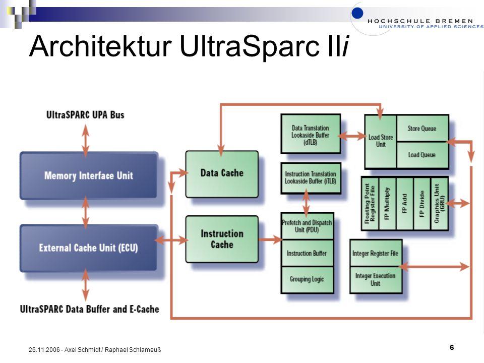 6 26.11.2006 - Axel Schmidt / Raphael Schlameuß Architektur UltraSparc IIi