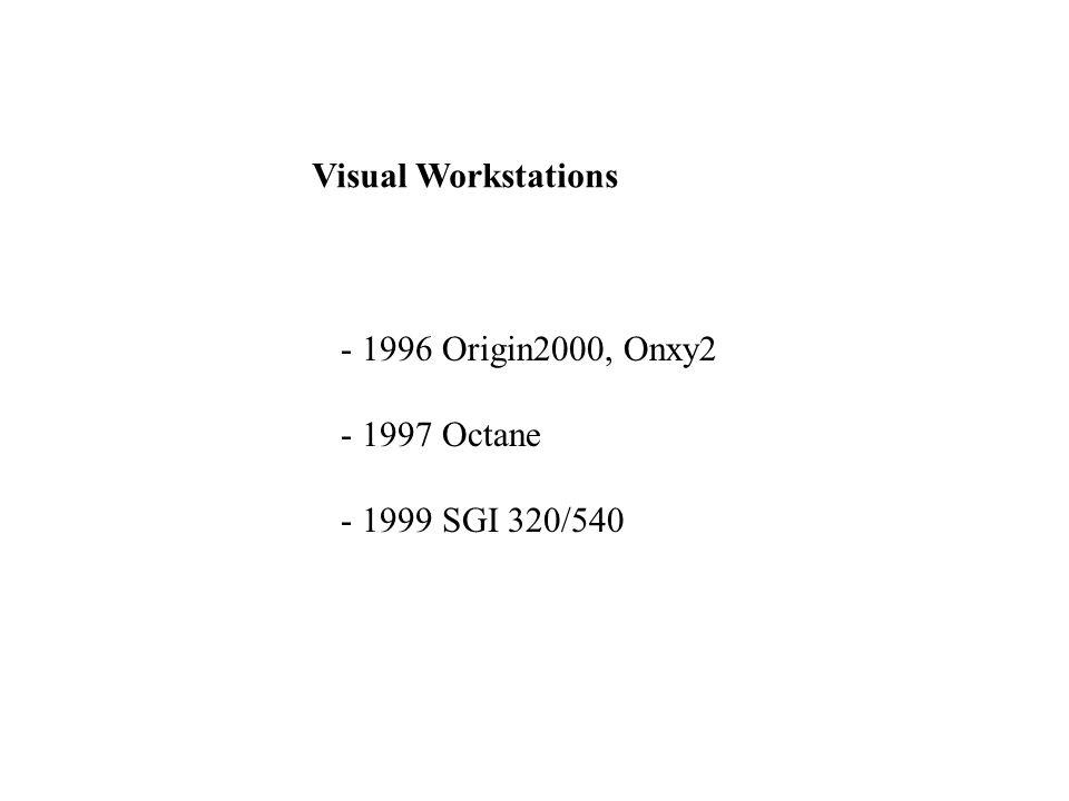 Silicon Graphics 320 und 540 - Windows NT - Intel Pentium III - Cobalt Chipsatz - HighEnd - Visual Computing