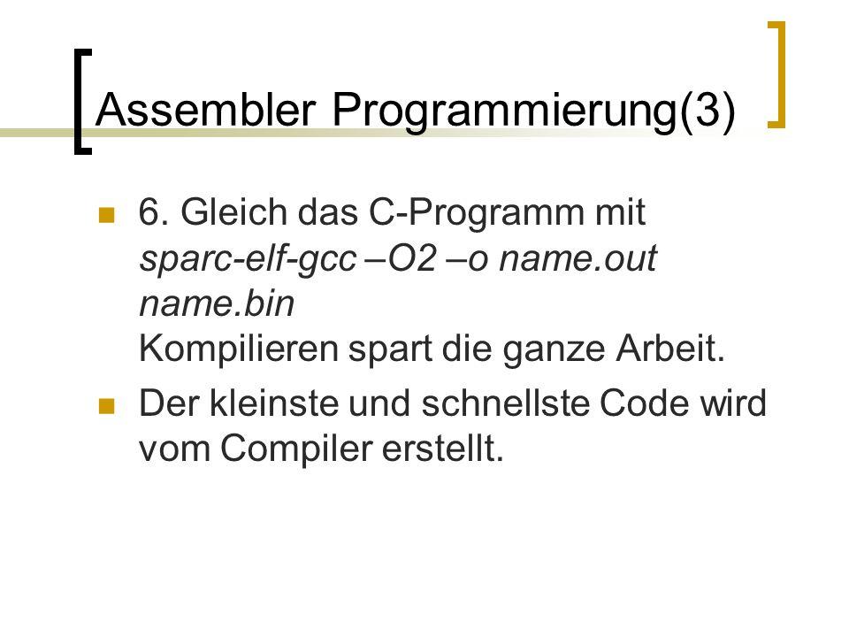 Assembler Programmierung(3) 6.