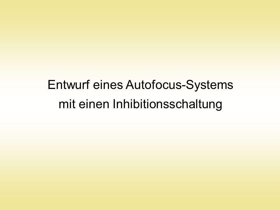 Entwurf eines Autofocus-Systems mit einen Inhibitionsschaltung