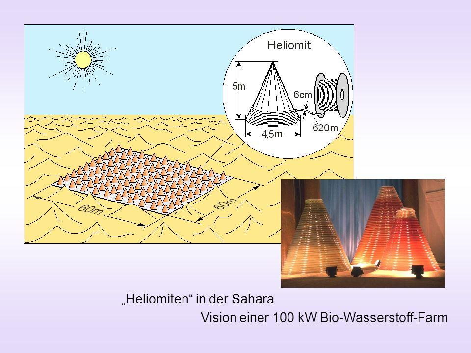 Heliomiten in der Sahara Vision einer 100 kW Bio-Wasserstoff-Farm