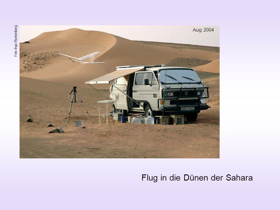 Flug in die Dünen der Sahara Aug. 2004 Foto Ingo Rechenberg