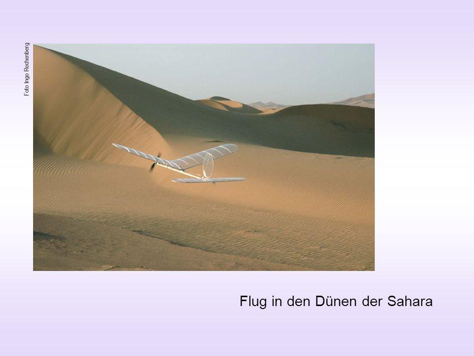 Flug in den Dünen der Sahara Foto Ingo Rechenberg