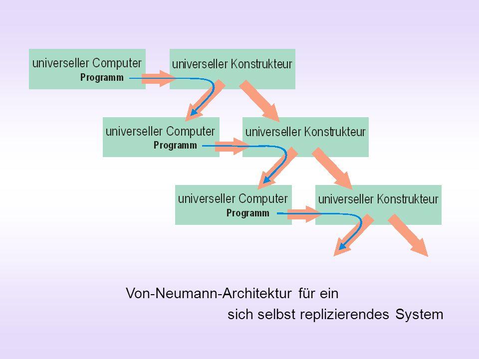 Von-Neumann-Architektur für ein sich selbst replizierendes System
