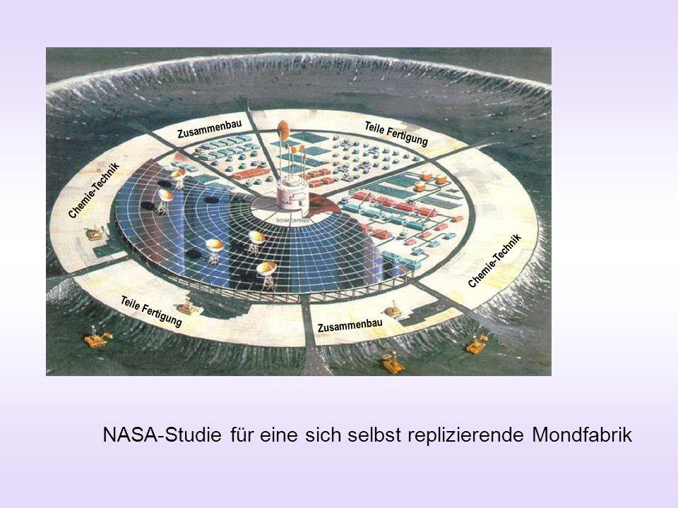 NASA-Studie für eine sich selbst replizierende Mondfabrik Zusammenbau Teile Fertigung Chemie-Technik Teile Fertigung