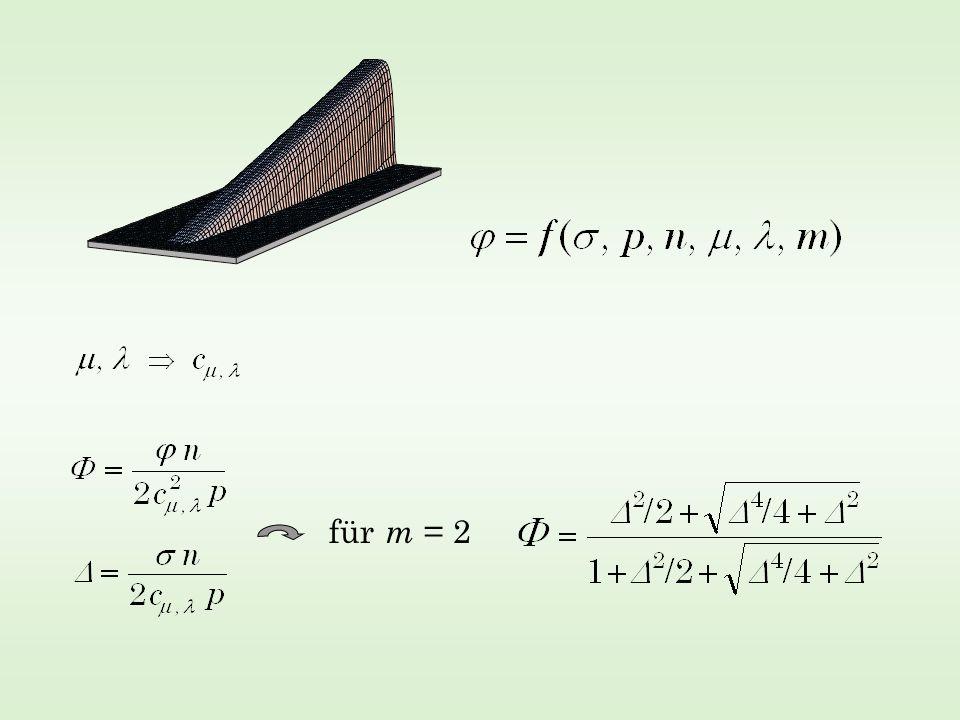 für m = 2