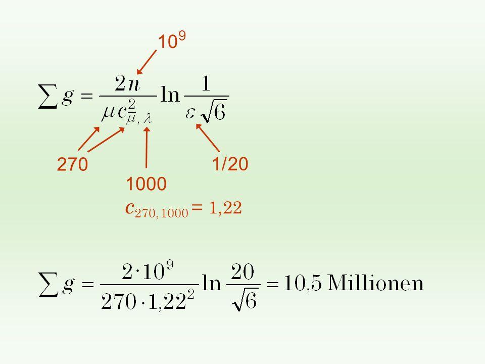 10 9 1/ 20 270 1000 c 270, 1000 = 1,22
