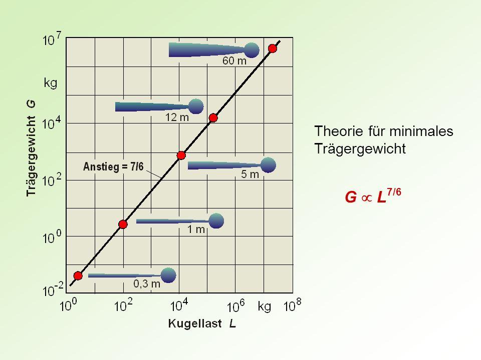 Theorie für minimales Trägergewicht G L 7/6