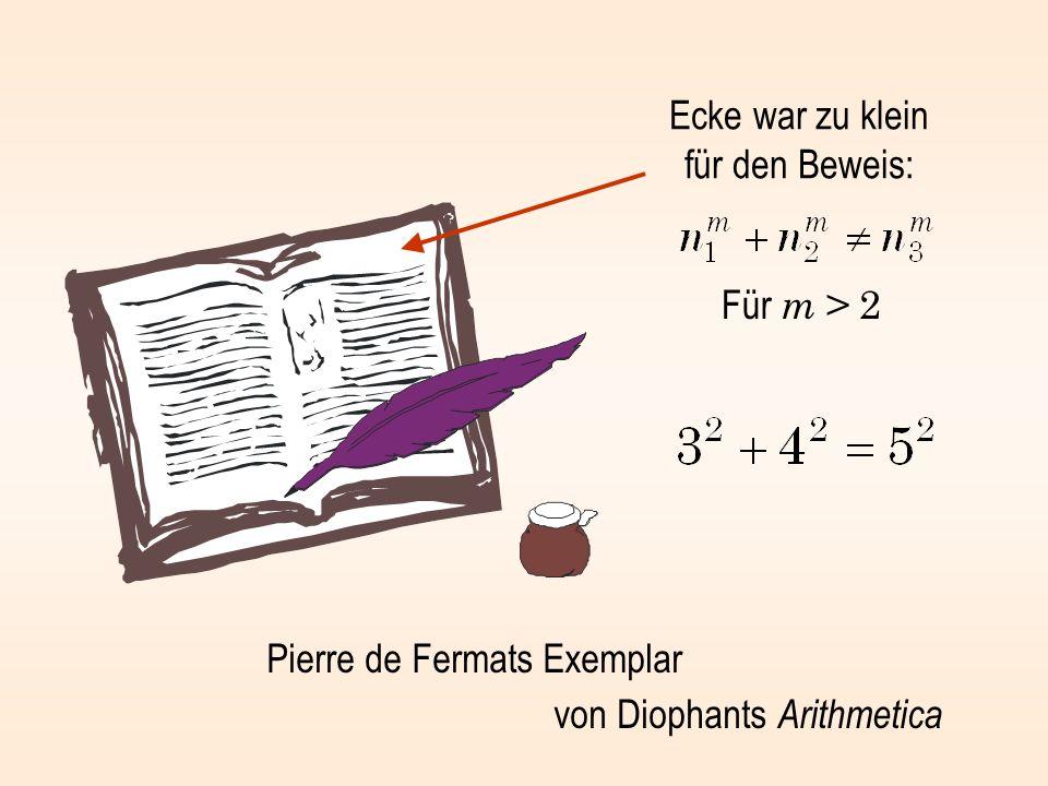 Ecke war zu klein für den Beweis: Pierre de Fermats Exemplar von Diophants Arithmetica Für m > 2