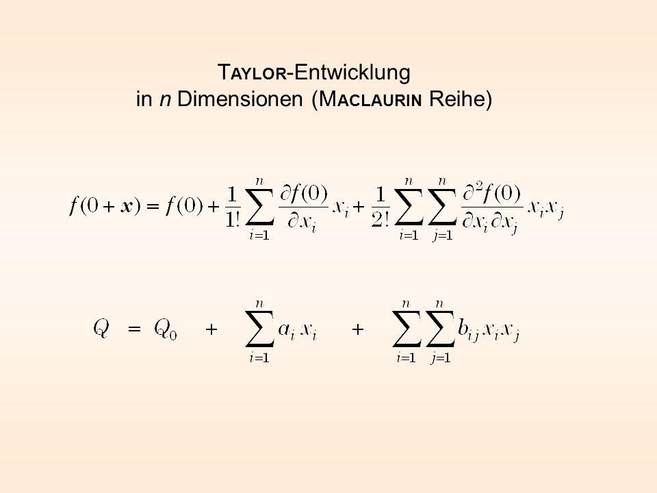 T AYLOR -Entwicklung in n Dimensionen (M ACLAURIN Reihe)