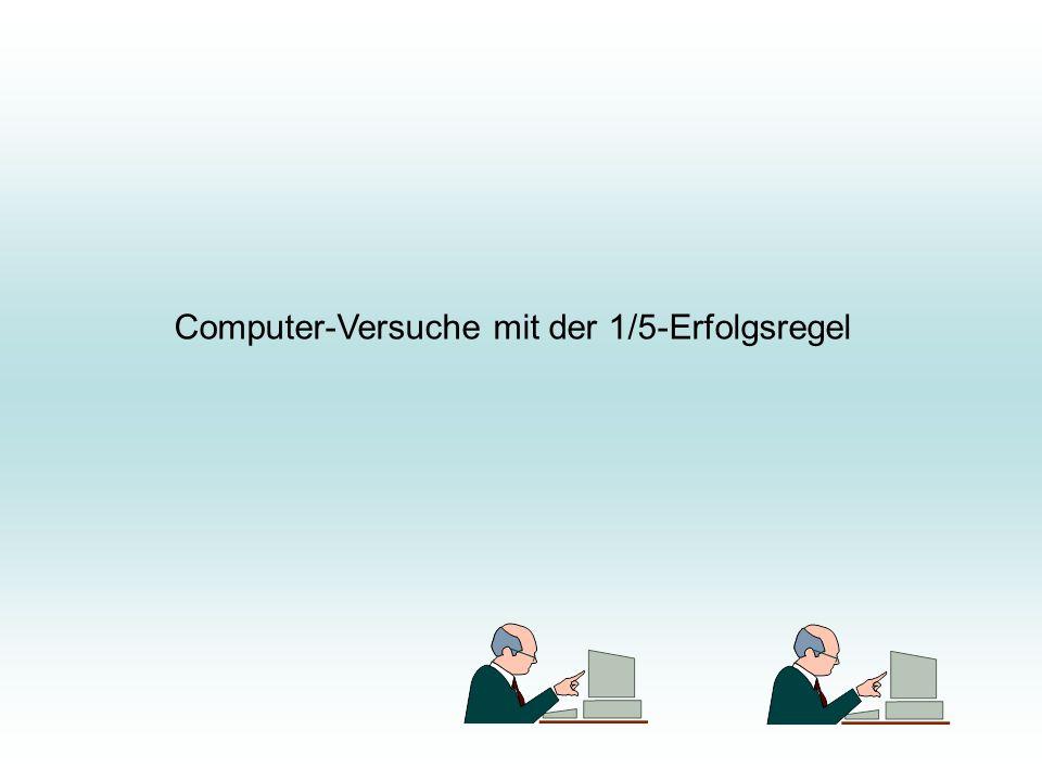 Computer-Versuche mit der 1/5-Erfolgsregel