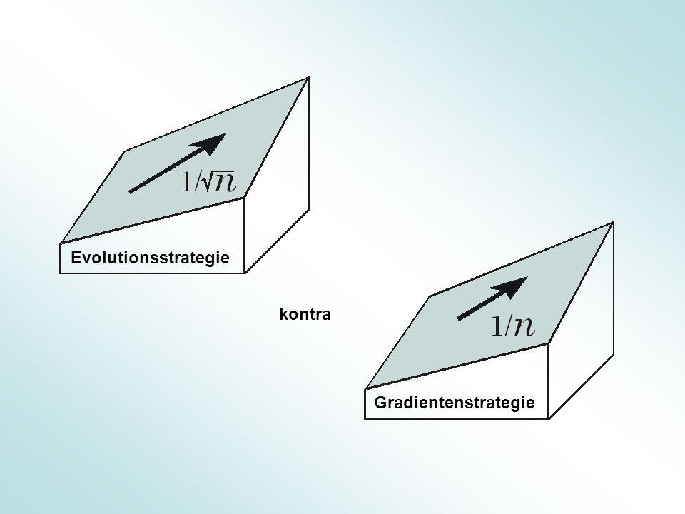Zum Schrittweitenänderungsfaktor der (1 + 1) - ES für g = 1 Klettern mit max Für n >> 1 gilt