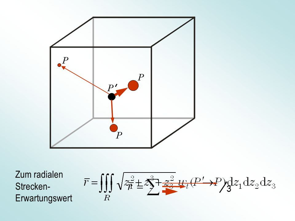 … Für n Dimensionen für n >> 1 Zur Schwankung des Zufallsvektors