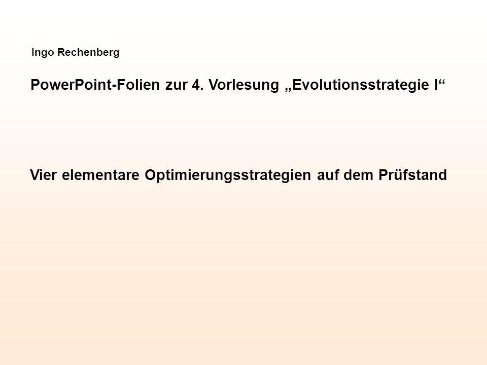 Gradientenstrategie kontra Evolutionsstrategie Lineare lokale Klettertheorie in einer stark kausalen Optimierungslandschaft