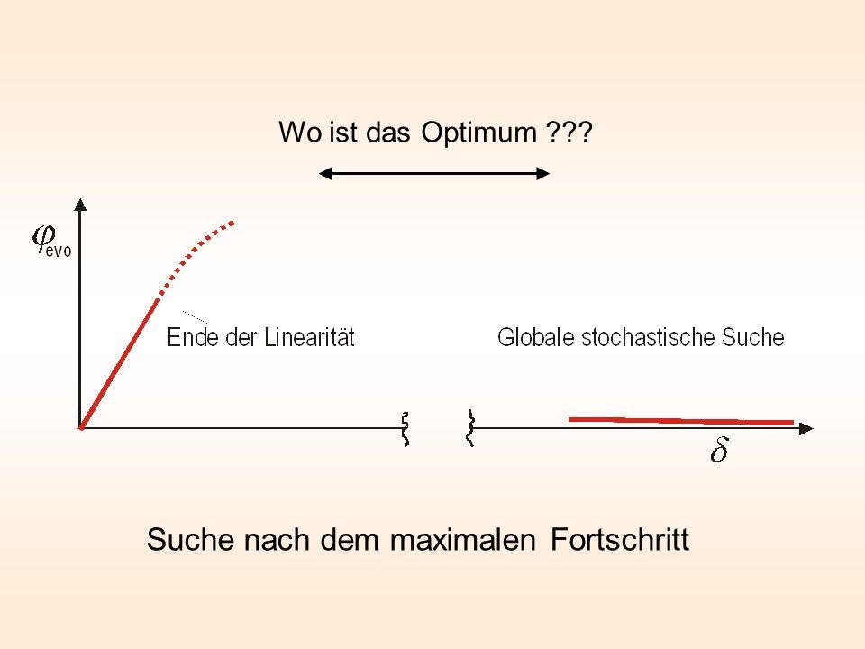 Suche nach dem maximalen Fortschritt Wo ist das Optimum