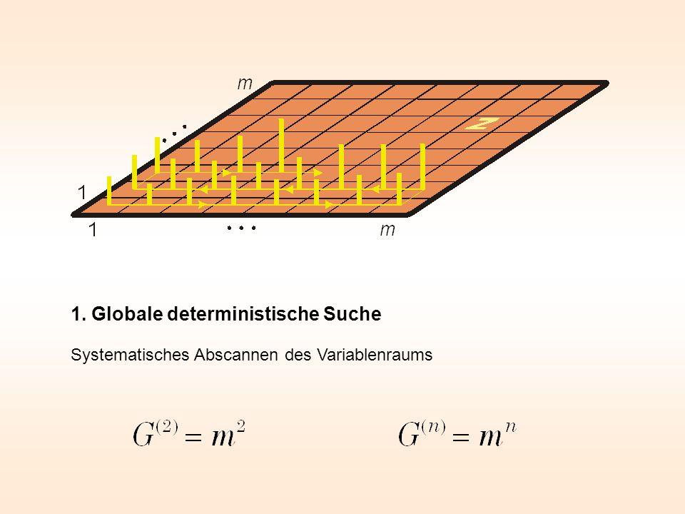 1. Globale deterministische Suche Systematisches Abscannen des Variablenraums