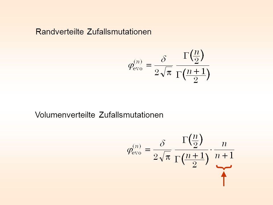 Volumen einer n-dimensionalen Kugel Oberfläche einer n-dimensionalen Kugel