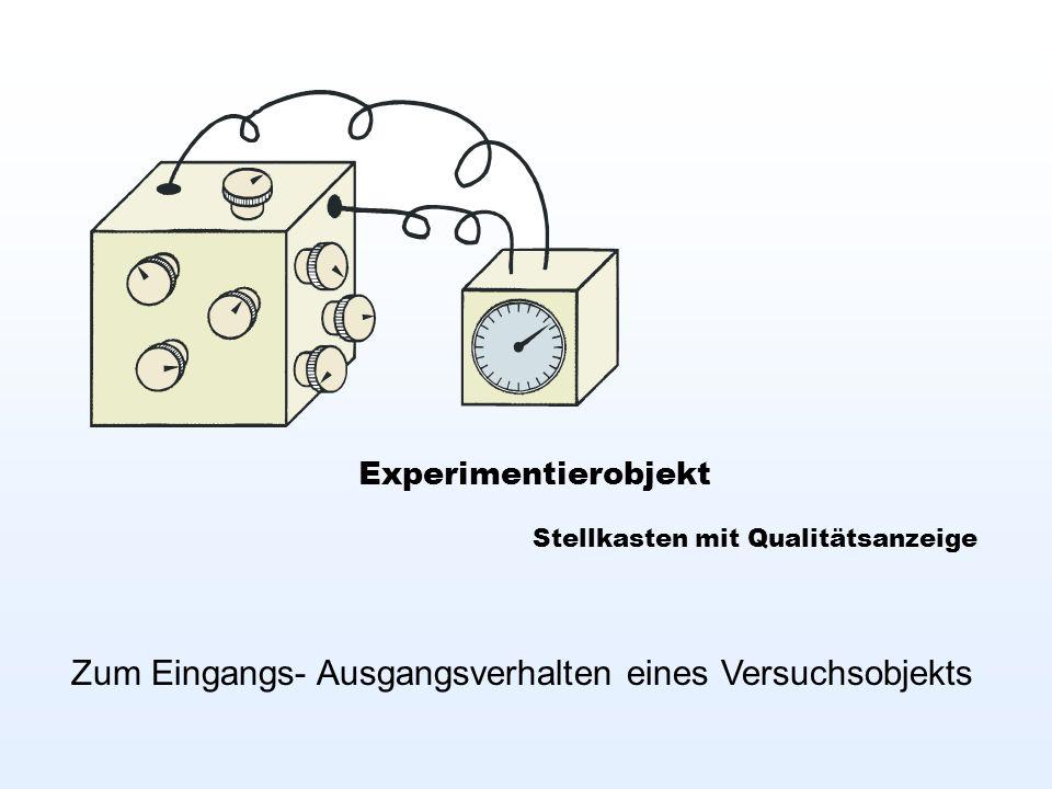 Experimentierobjekt Stellkasten mit Qualitätsanzeige Zum Eingangs- Ausgangsverhalten eines Versuchsobjekts