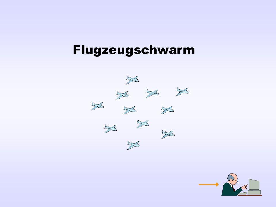 Flugzeugschwarm
