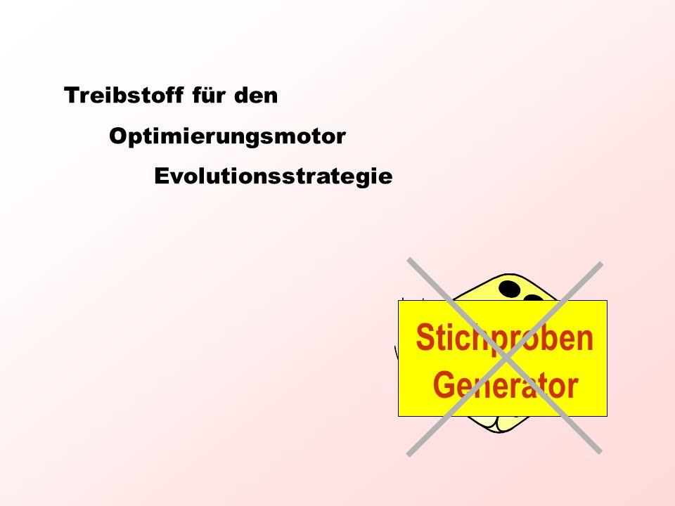 Treibstoff für den Optimierungsmotor Evolutionsstrategie Stichproben Generator
