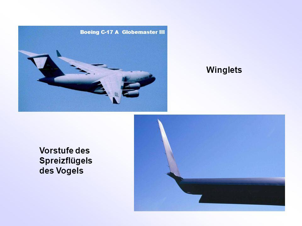 Vorstufe des Spreizflügels des Vogels Winglets Boeing C-17 A Globemaster III
