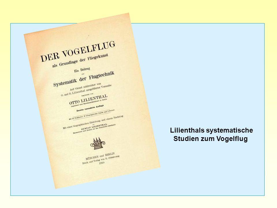 Lilienthals systematische Studien zum Vogelflug