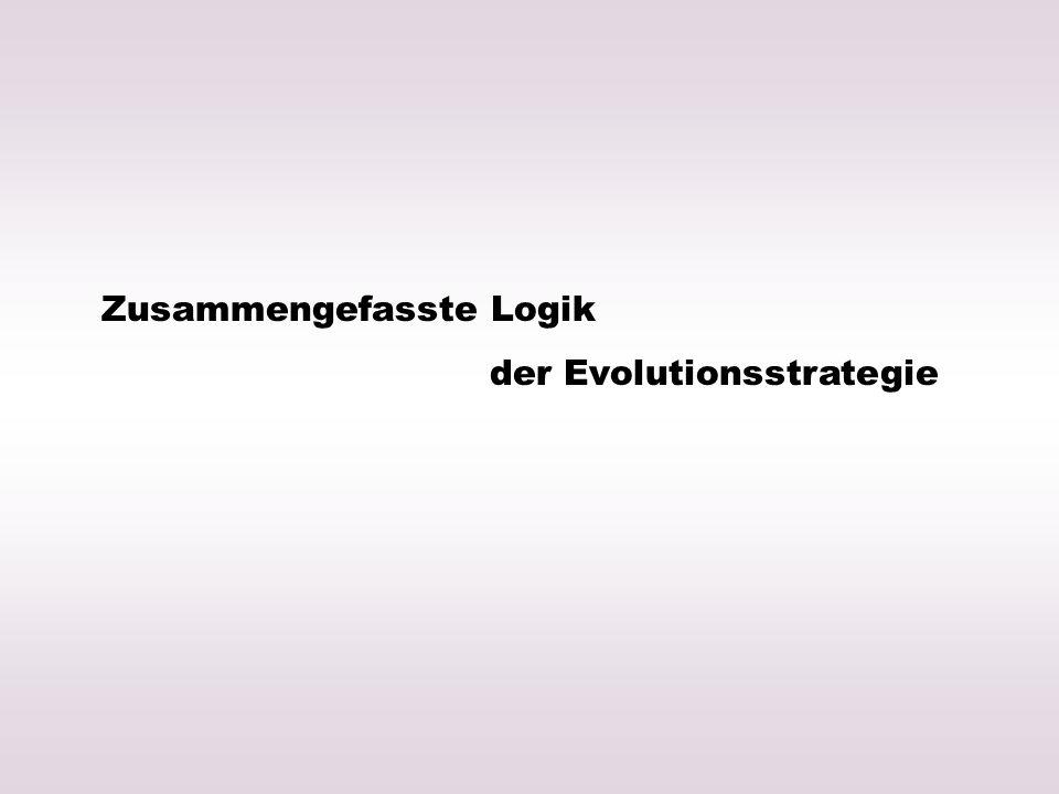 Zusammengefasste Logik der Evolutionsstrategie
