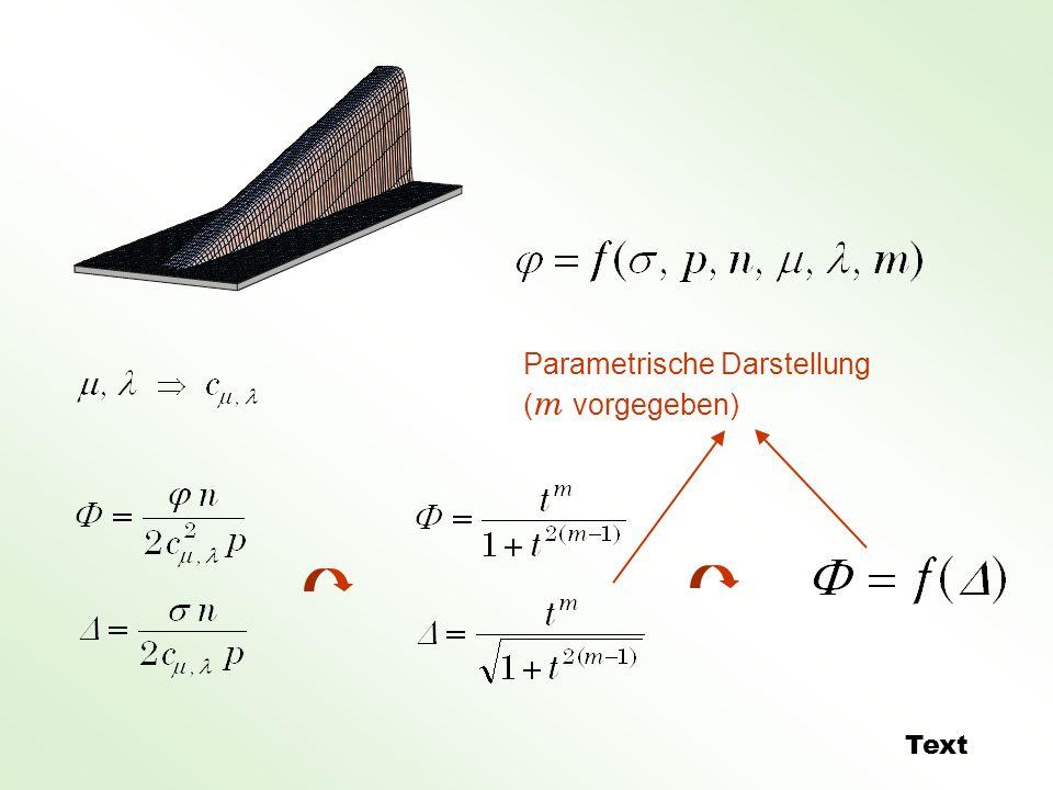 Parametrische Darstellung ( m vorgegeben) Text