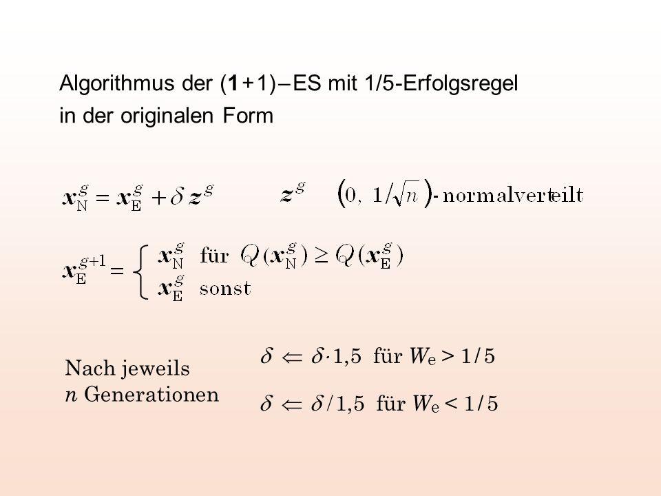 Versagen der 1/5-Erfolgsregel am spitzen Grat Elter kleiner als 1/5 Kreisumfang W e < 1/5 / 1,5 … Erfolgsgebiet