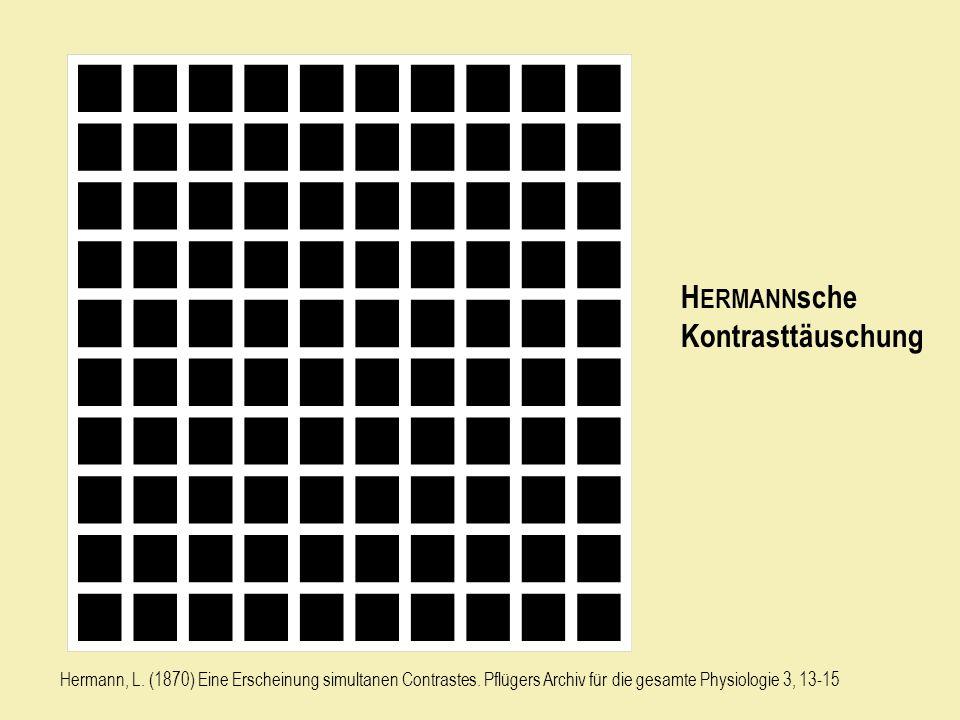 H ERMANN sche Kontrasttäuschung Hermann, L.(1870) Eine Erscheinung simultanen Contrastes.