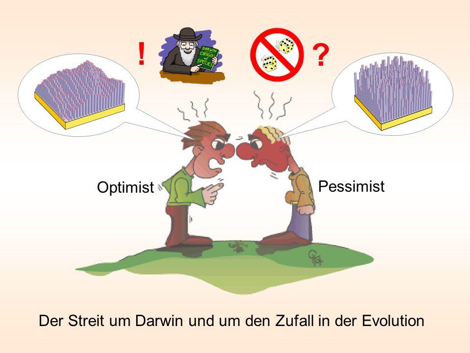 Der Streit um Darwin und um den Zufall in der Evolution ? ! Pessimist Optimist