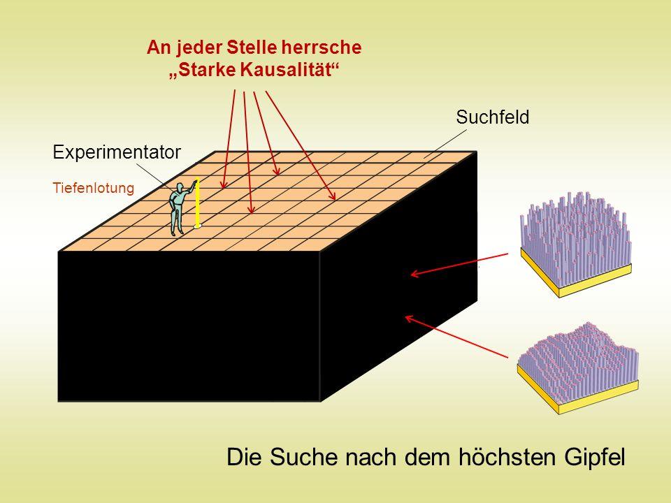 Tiefenlotung Experimentator Suchfeld Die Suche nach dem höchsten Gipfel An jeder Stelle herrsche Starke Kausalität