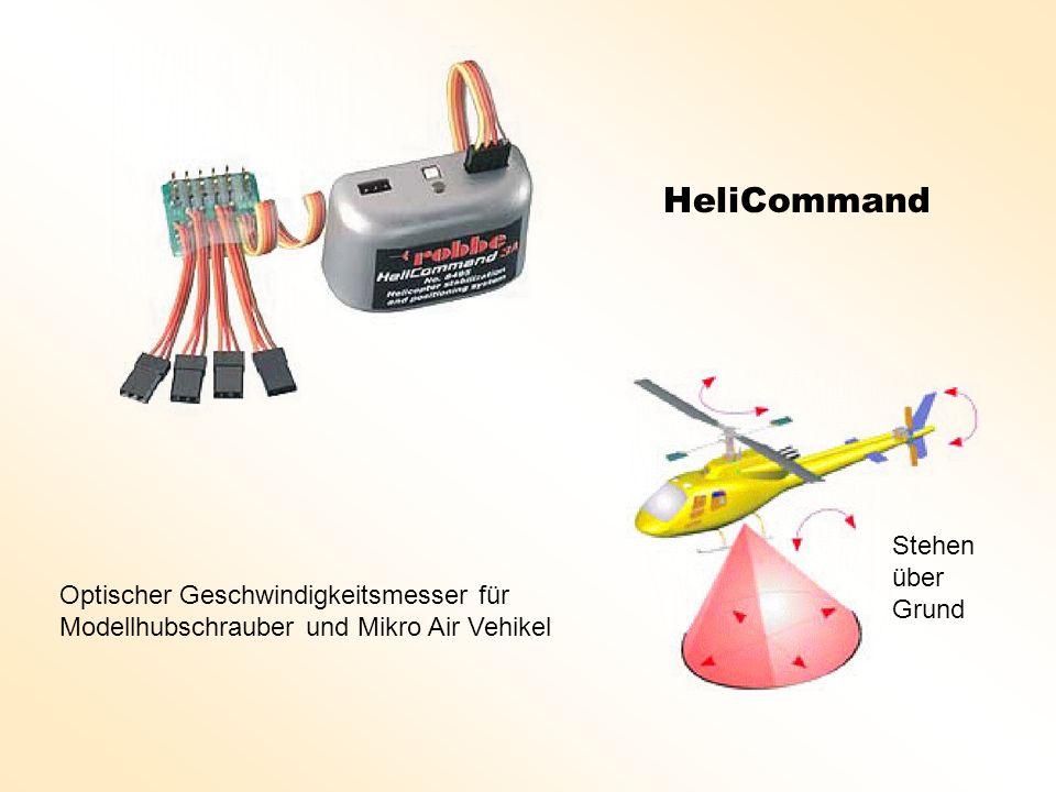HeliCommand Optischer Geschwindigkeitsmesser für Modellhubschrauber und Mikro Air Vehikel Stehen über Grund