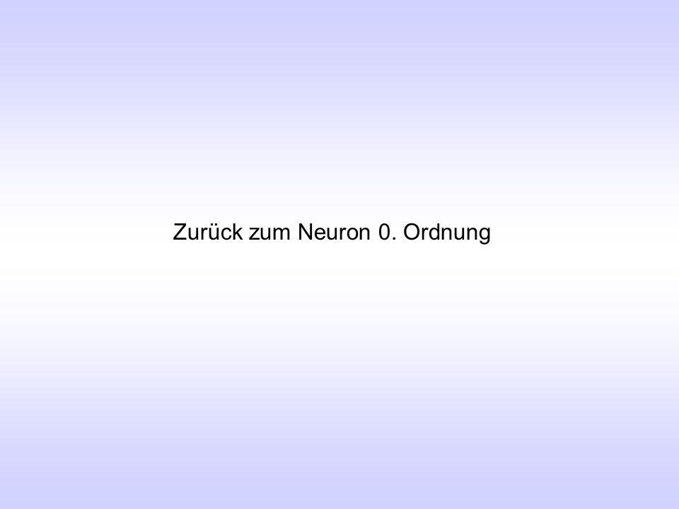 Zurück zum Neuron 0. Ordnung