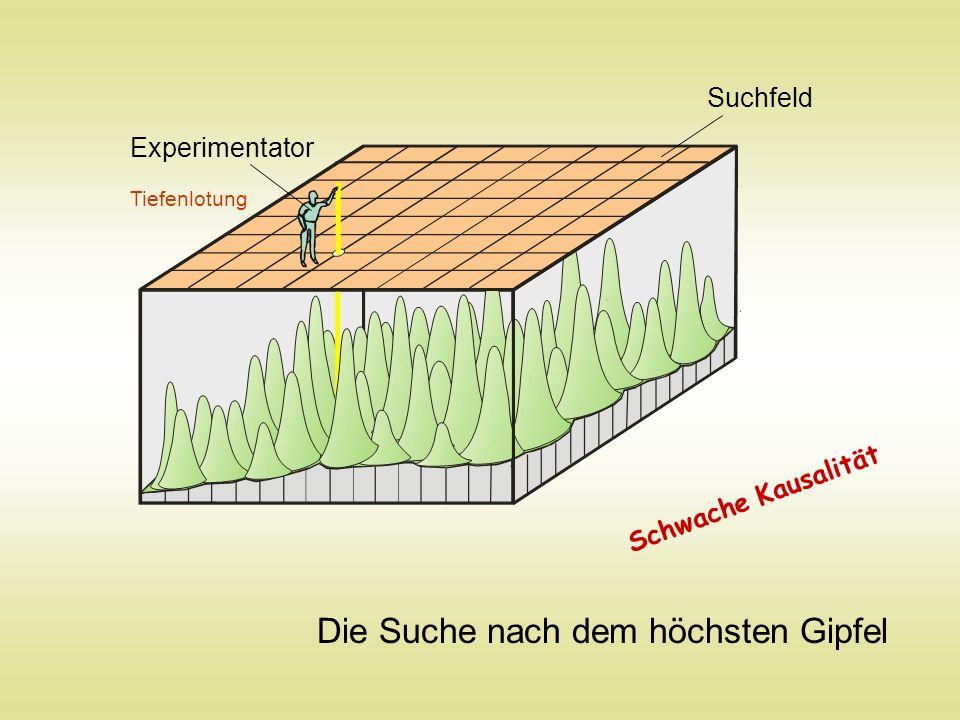 Experimentator Tiefenlotung Suchfeld Die Suche nach dem höchsten Gipfel Schwache Kausalität