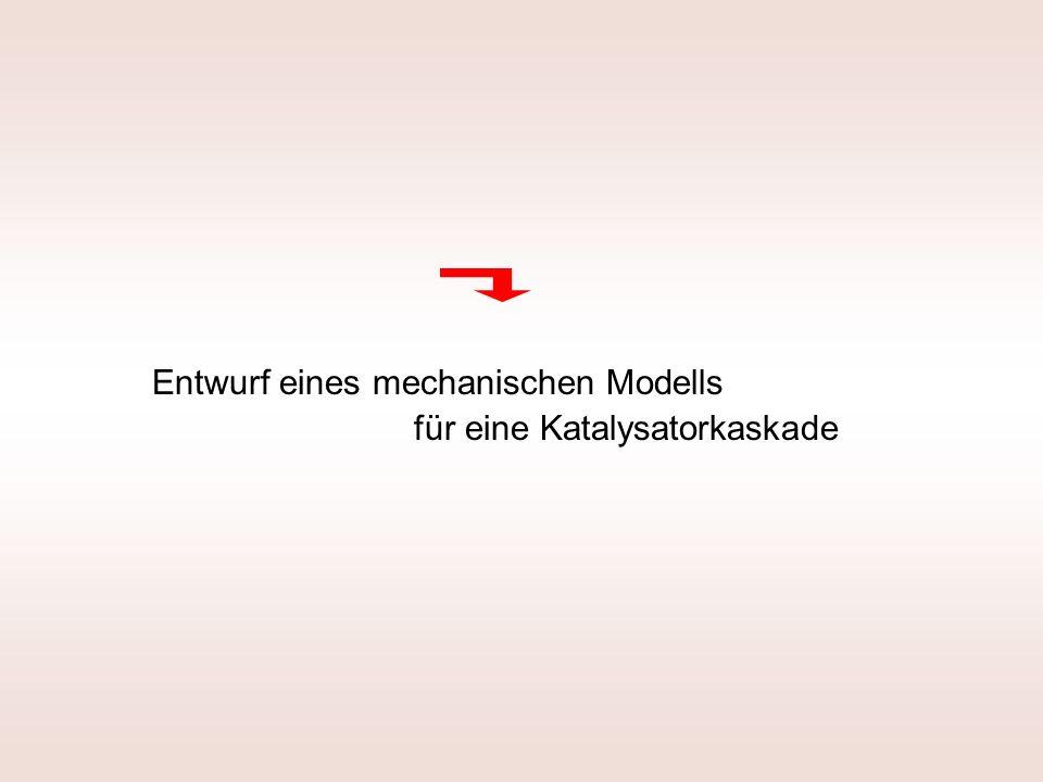 Entwurf eines mechanischen Modells für eine Katalysatorkaskade