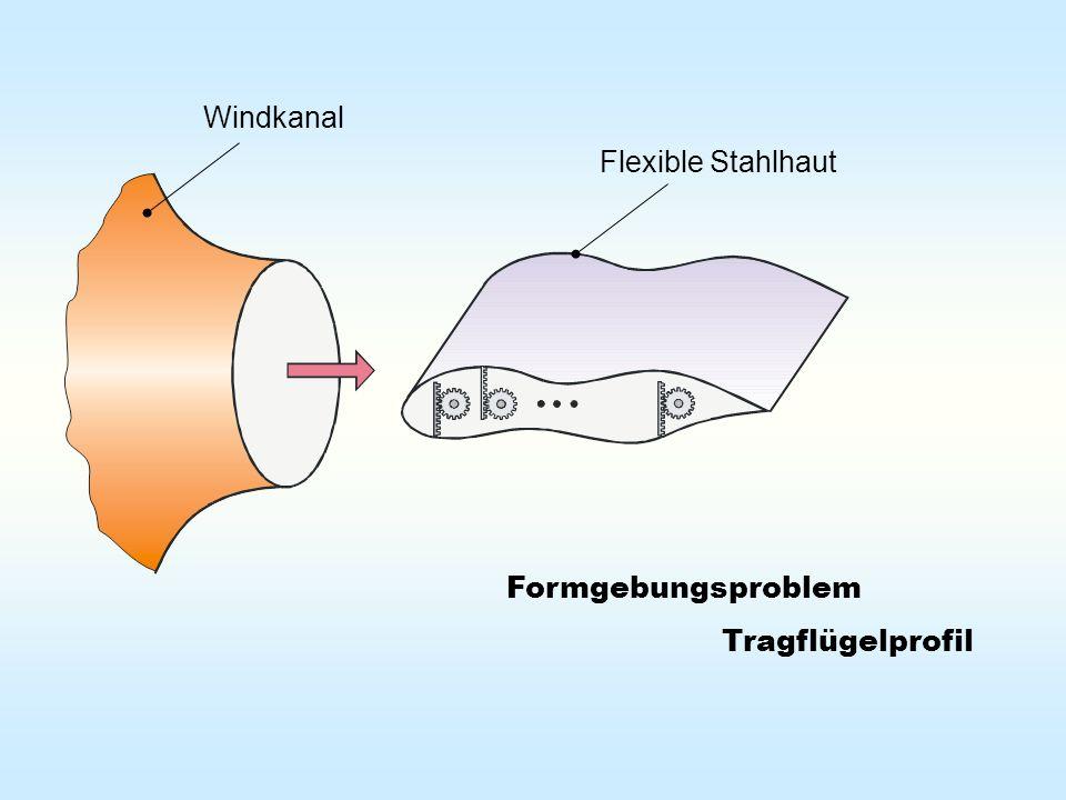 Formgebungsproblem Tragflügelprofil Windkanal Flexible Stahlhaut
