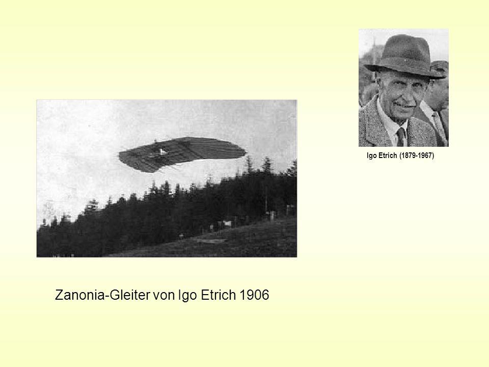 Igo Etrich (1879-1967) Zanonia-Gleiter von Igo Etrich 1906
