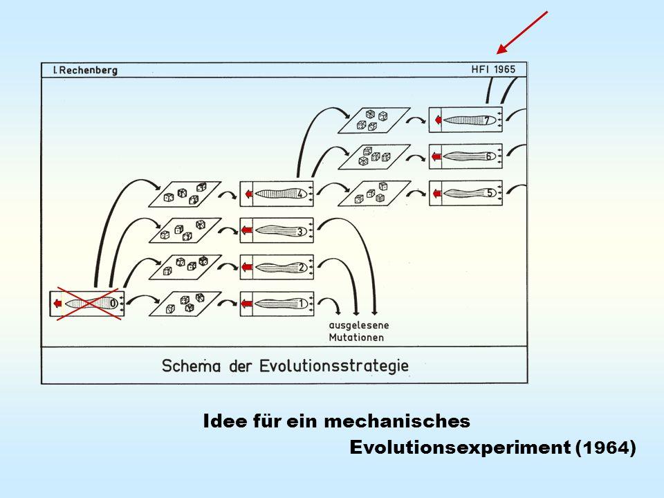 Darwin im Windkanal Schlüsselexperiment mit der Evolutionsstrategie 1964
