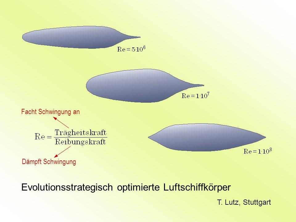 Evolutionsstrategisch optimierte Luftschiffkörper T. Lutz, Stuttgart Facht Schwingung an Dämpft Schwingung