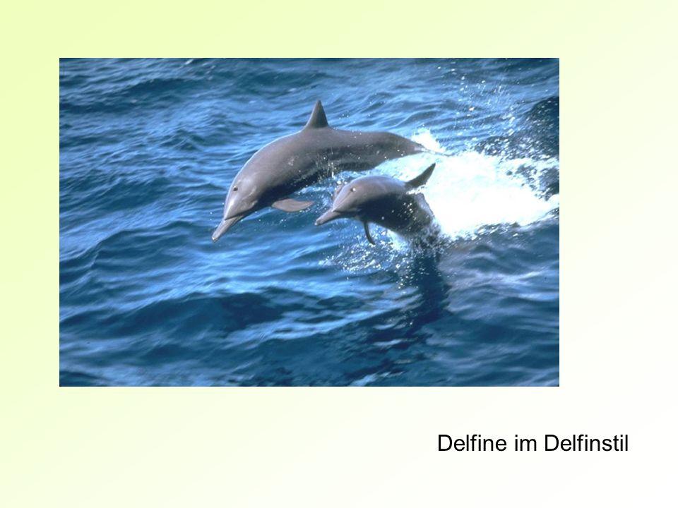 Delfine im Delfinstil